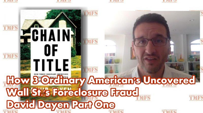 David Dayen 1 Chain Of Title
